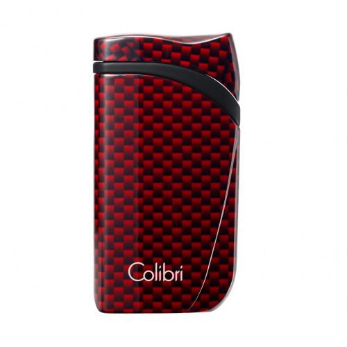Зажигалка Colibri Falcon, красный карбон (шт.)